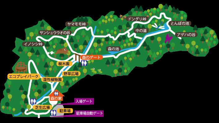 山田緑地マップ