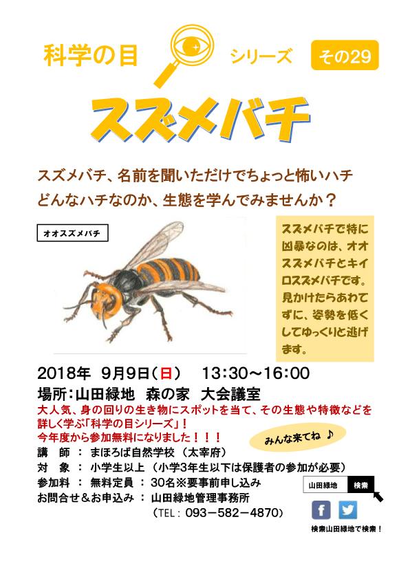 科学の目 2019年9月 スズメバチ講座